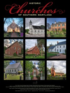 Historic Church of Southern Maryland poster printed by Heritage Printing & Graphics in Leonardtown, Maryland