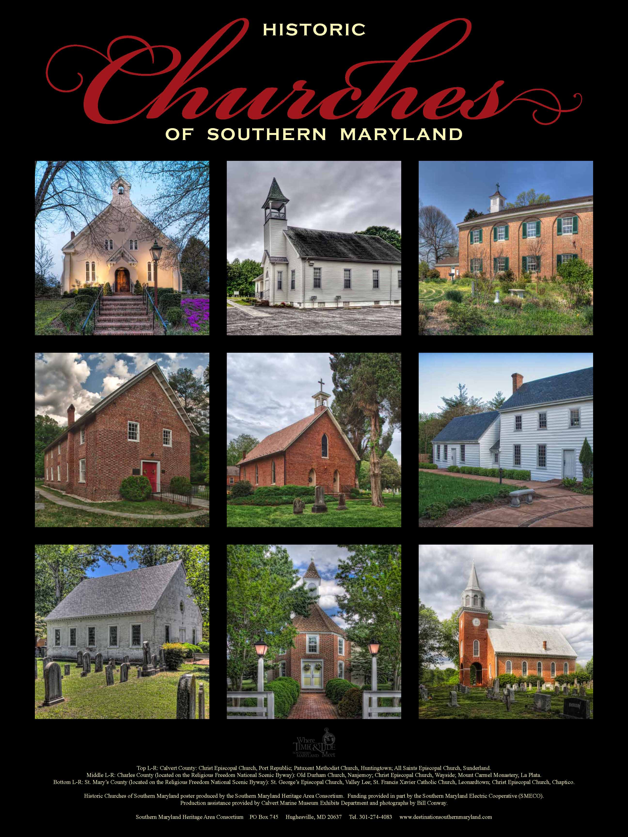 Southern Maryland Heritage Consortium Historic Church Poster 2011 Heritage Printing Graphics