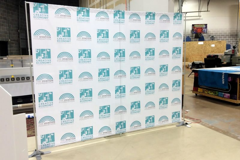 Fabric Banner Step and Repeat