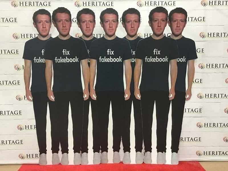 Mark Zuckerberg Life Size Cutouts