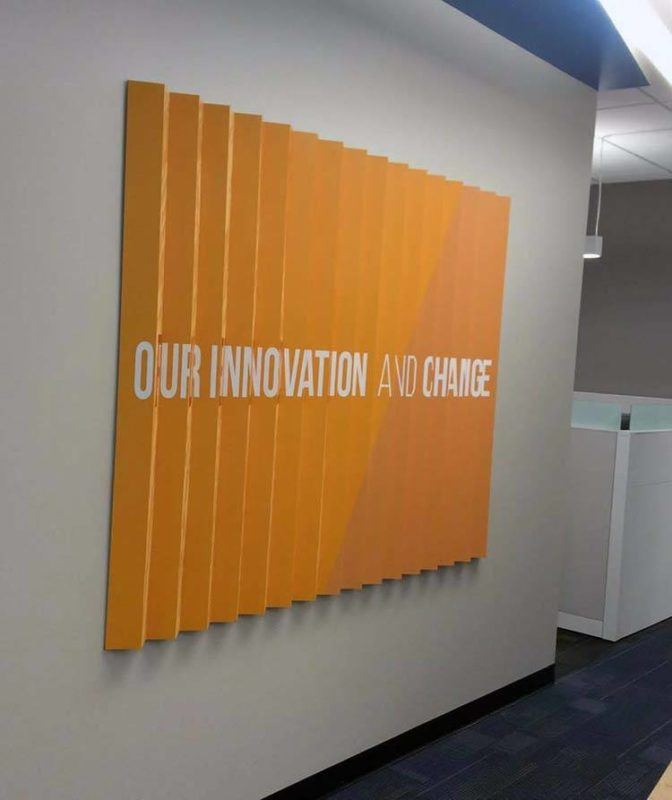 Lenticular Wall Display