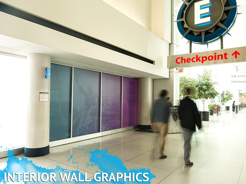Charlotte Douglas Airport Printed Interior Wall Graphics