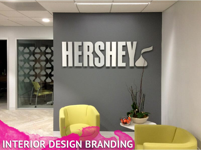 Interior branding signage wall graphics