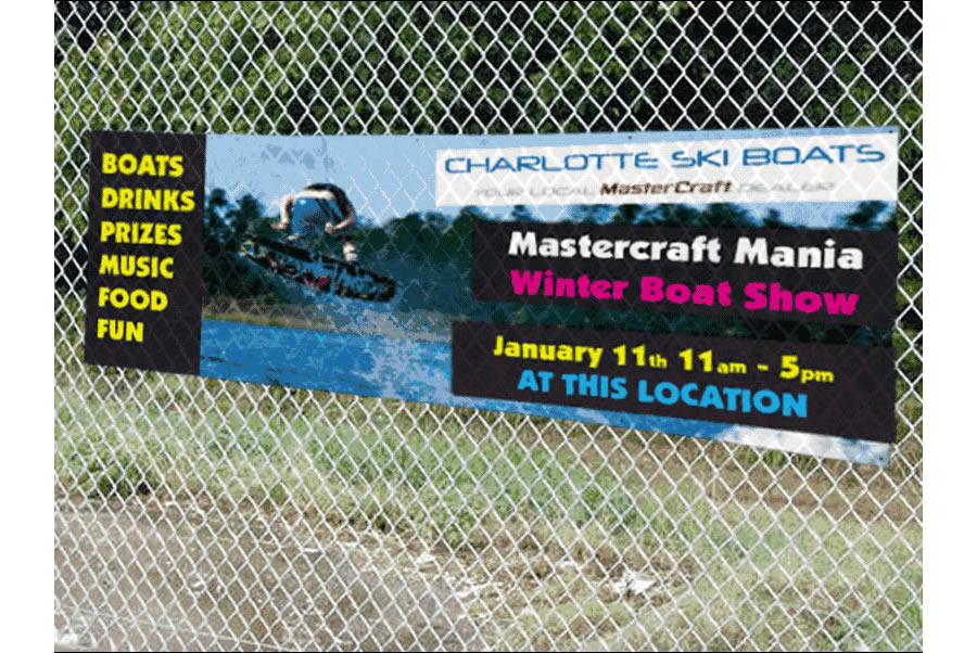 Outdoor Mesh Banners Charlotte