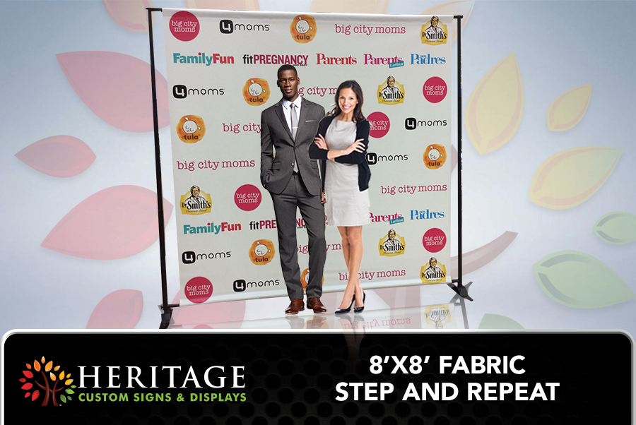 Fabric Step and Repeat Charlotte